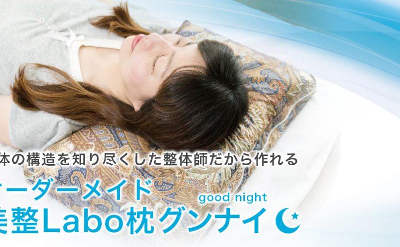 ライフリソート整体スクールオリジナル枕『オーダーメイド美整枕グンナイ』のネット販売をしております。